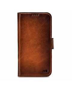 Senza Pure Leather Wallet Apple iPhone XR Burned Cognac